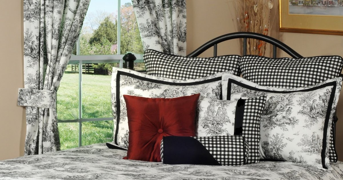 Black And White Toile Bedroom Ideas: Total Fab: Black And White/Cream Toile & Damask Comforters