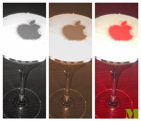 Cocteles corporativos con la famosa manzana de Apple para Ktuin. Makoondo Cocteleria.