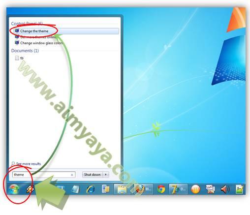Gambar: Cara Mengganti Tema/Theme Windows