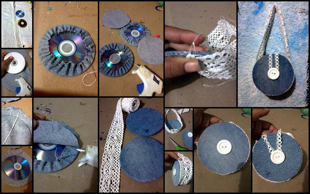 Bolso mezclilla y cds el - Cosas hechas a mano para vender ...