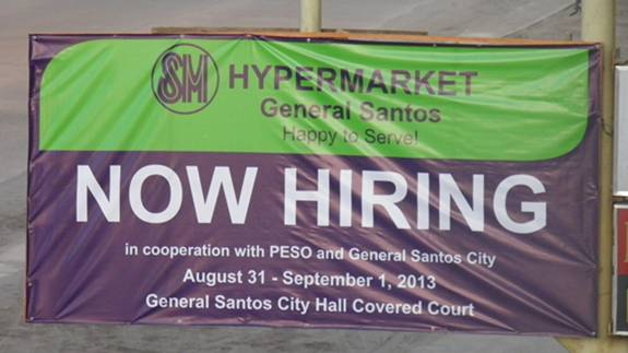 the retail operations of the soon to open sm hypermarket general santos that includes customer service assistants cashiers baggers sales clerk etc sales clerk jobs
