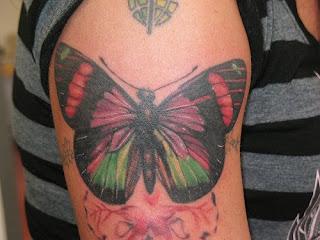 Imagem de tatuagem borboleta no braço