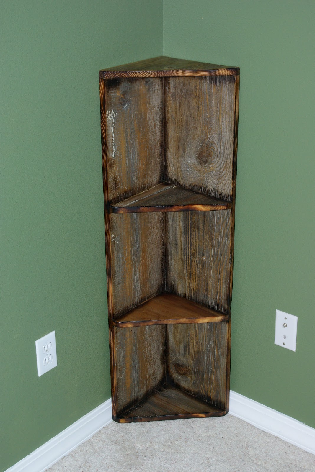 Barn Wood Shelves ~ Reclaimed rustics barn wood corner shelf