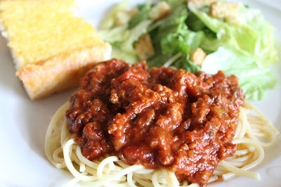 The Little Things: Spaghetti with Meat Sauce