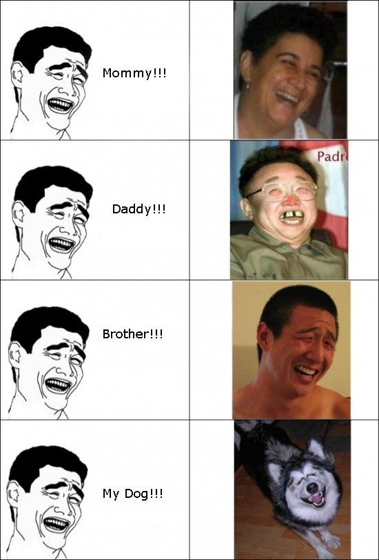 Yao Ming's Family Faces