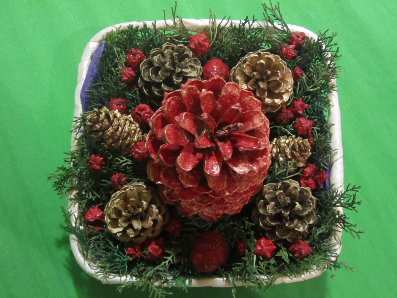 Jabones y otras cositas un centro de mesa navide o casero - Centros de mesa navidenos caseros ...