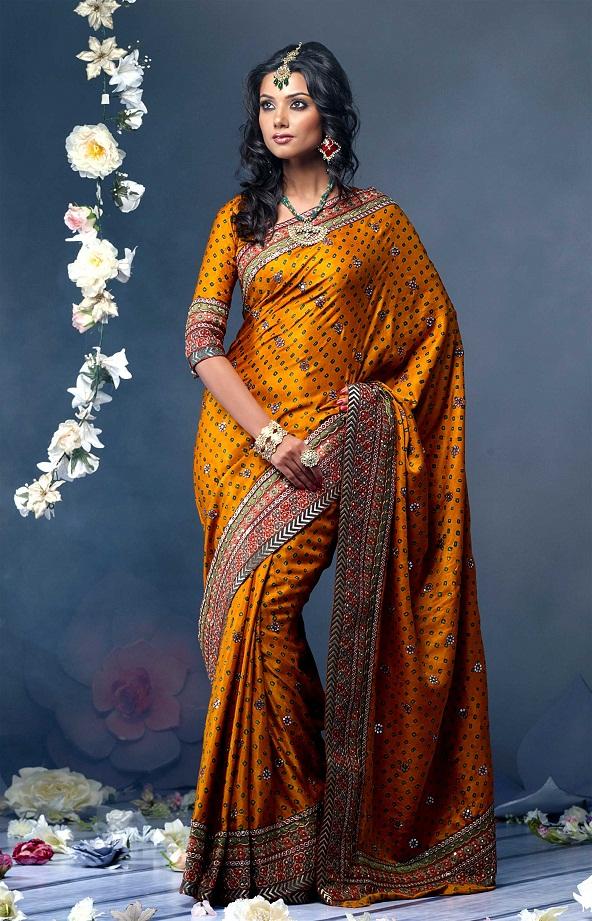golden saree blouse