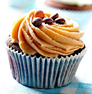 classic American peanut butter cupcake.