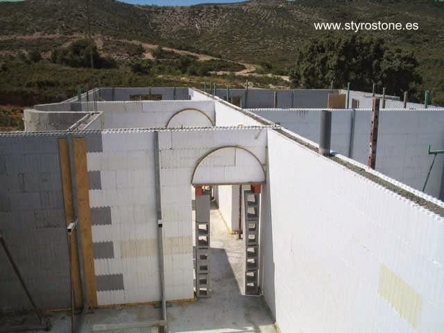 Paredes de Styro Stone casa en construcción es España