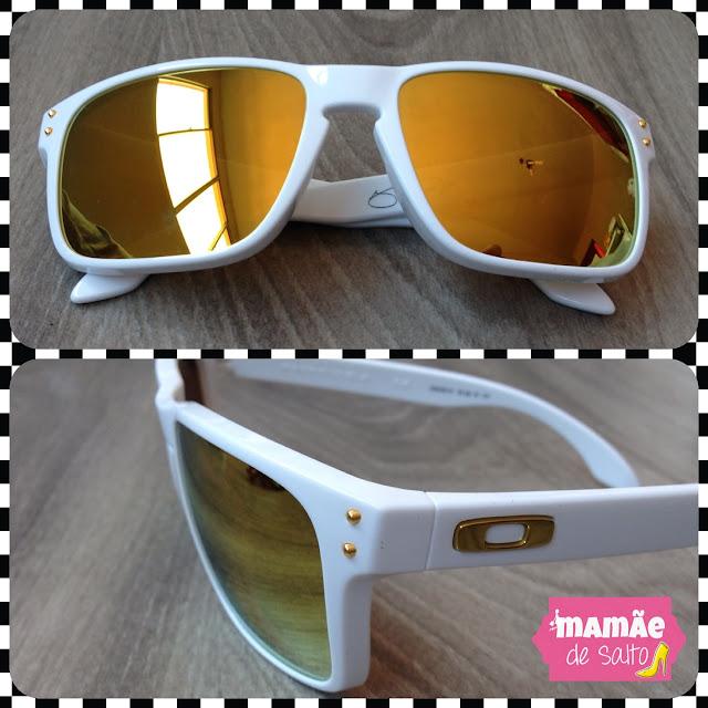 óculos de sol oakley branco lente espelhada blog mamãe de salto ===> todos os direitos autorais reservados para blog Mamãe de Salto