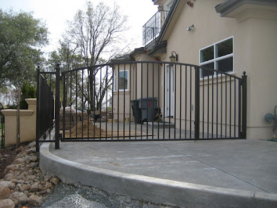 Wrought Iron Side Yard Driveway Gate