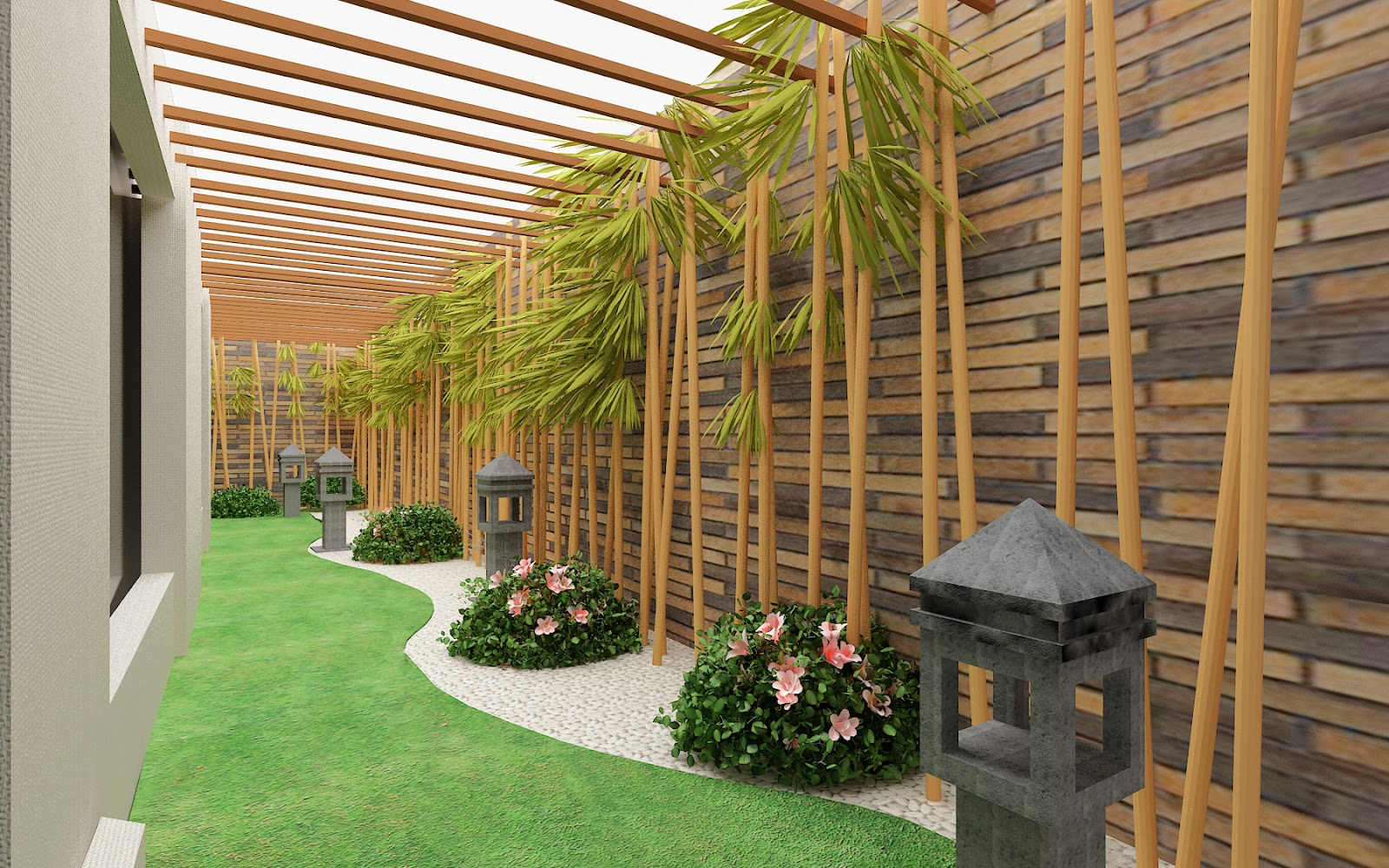 Contoh Landscape Taman Rumah Minimalist Terbaru Gambartopcom