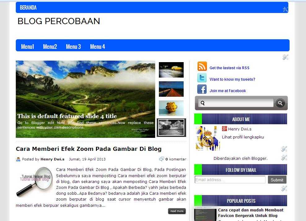 Template Blog Simple Blue Line/keren dan SEO Friendly