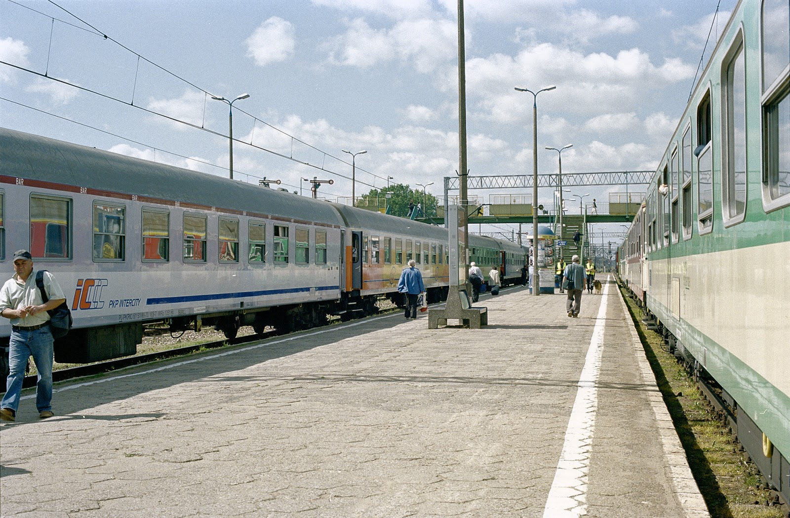 the train was also shortened by several coaches also the remaining coaches got a lot emptier here certainly signs of the journey embarking for more