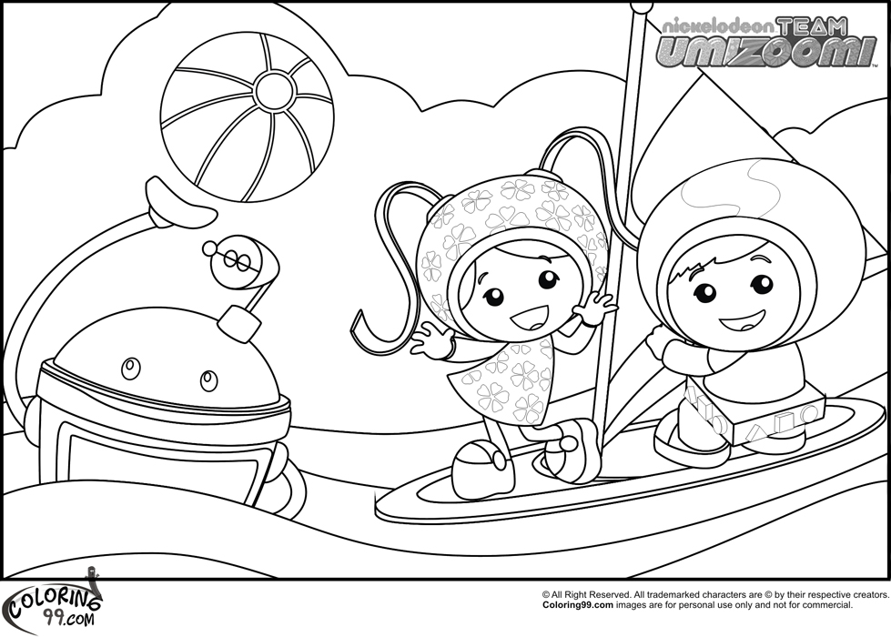 team umizoomi coloring pages printable free - Umizoomi Coloring Pages Printable