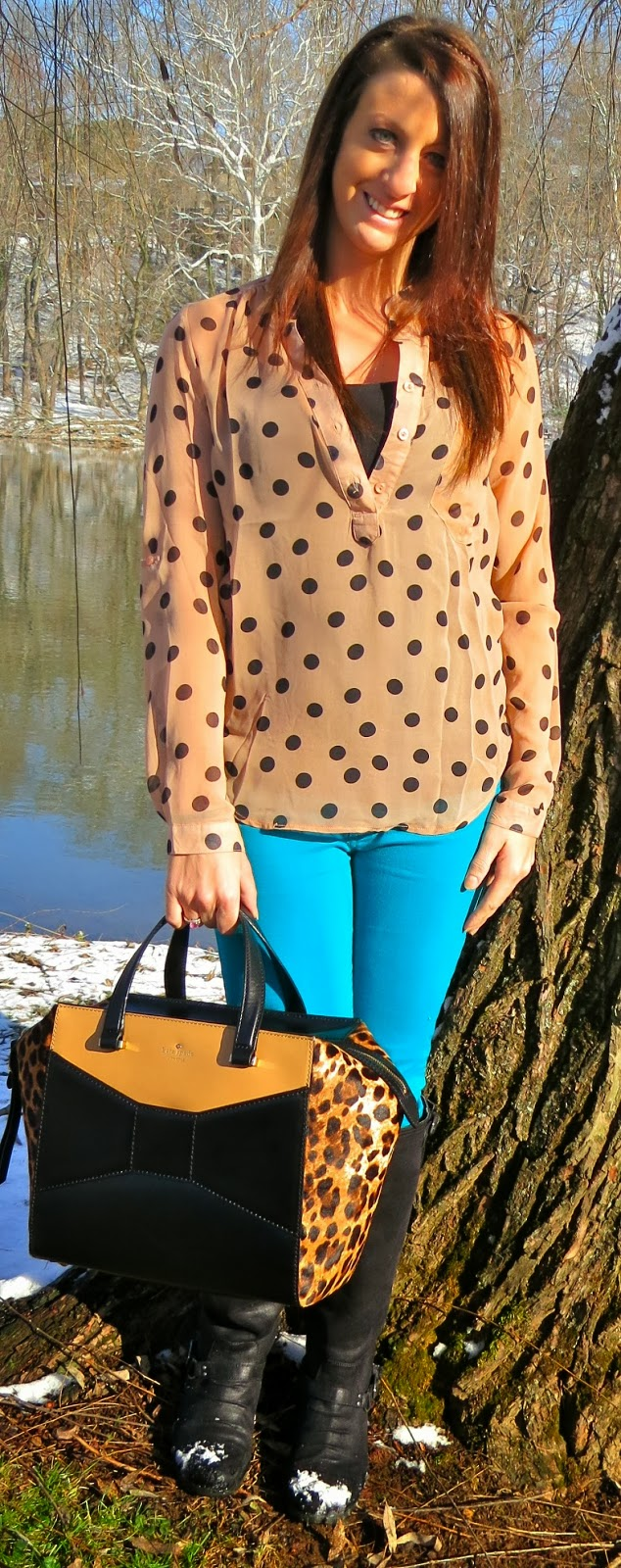 Fashion, kate spade, ootd, Outfit Ideas, outfit of the day, Outfits, pink, stripes, what i wore, kate spade leopard beau bag, 2 park avenue beau bag