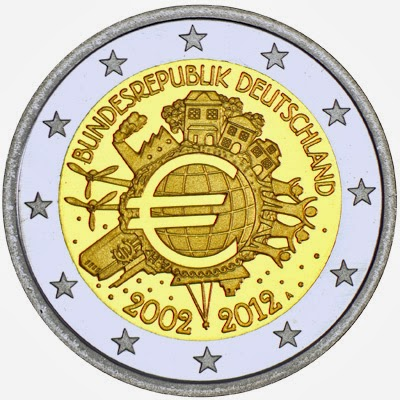 2 euro Germany 2012, Ten years of Euro cash