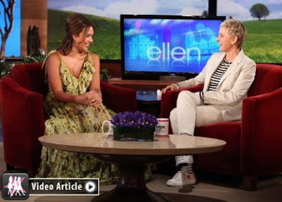 Jessica Alba x DG Ruffle Dress on Ellen Show