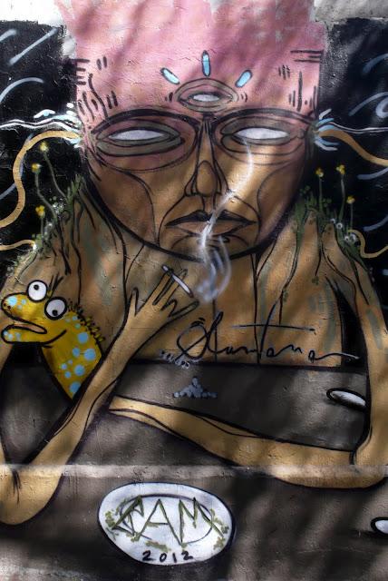 santana graffiti street art in santiago de chile