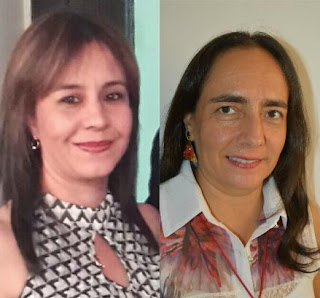 De Izq. a Der. Representante Profesoral Principal Diana María Vásquez y Representante Profesoral Suplente Carmen Rosa Forero Amórtegui