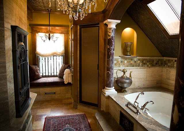 Massive stone bathroom