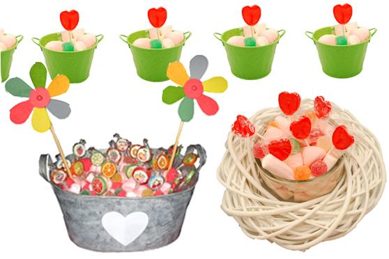 Nomeolvides cupcakes centro de mesa de chuches - Centro de mesa de chuches ...