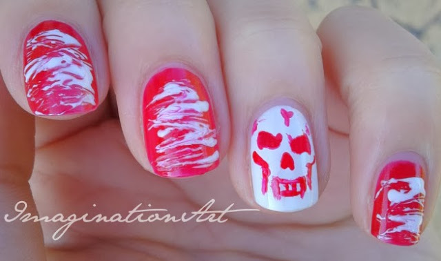 nail art skull teschio halloween
