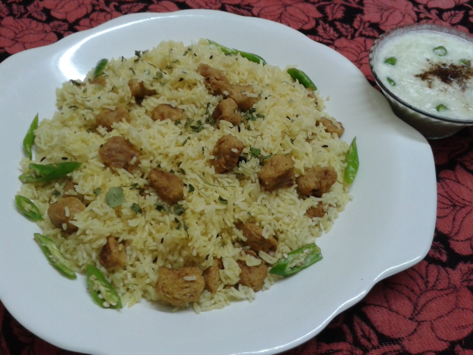 How to make Soya Chunks Pulao