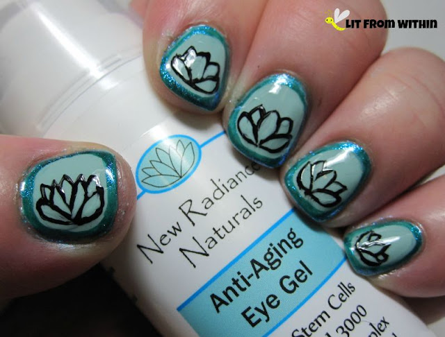 New Radiance Naturals Anti-Aging Eye Gel-inspired nailart