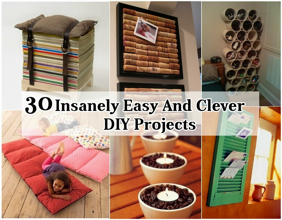 Http Www Diycraftproject Com 2014 01 31 Insanely Easy And Clever Diy Projects Html