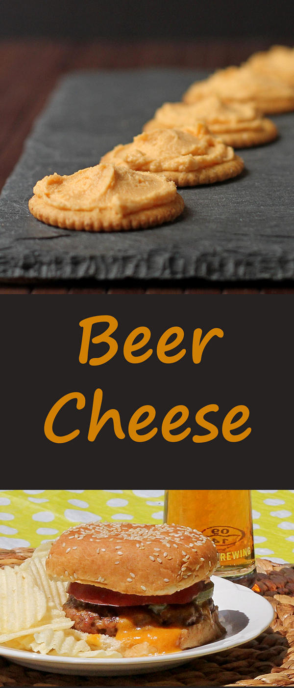 Make your own BEER CHEESE spread - great on crackers, or melted on a perfectly grilled burger.