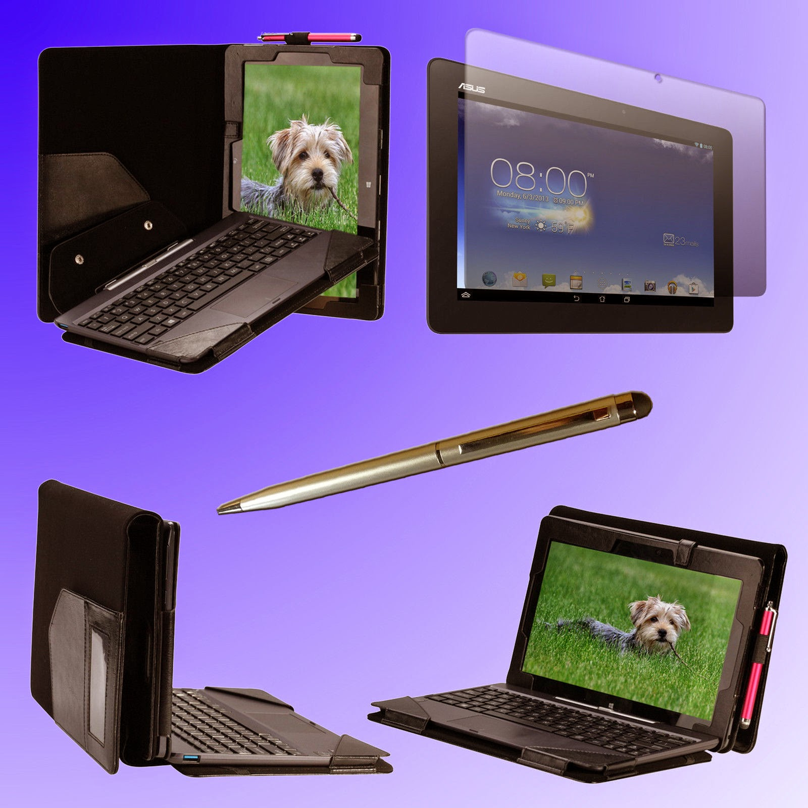 Detachable Keyboard Case for Asus Transformer book T100A + Film + Stylus F127S
