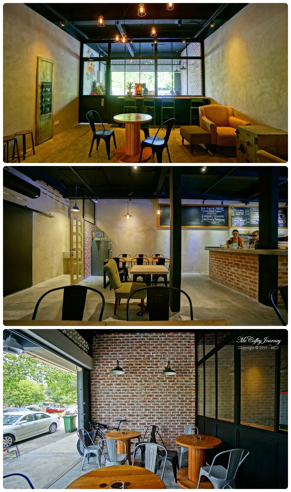 Ample seats at different parts of Doors Cafe. & Doors Cafe @ Taman Overseas Union Kuala Lumpur
