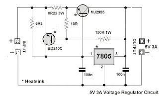 7805 Voltage Regulator Circuit