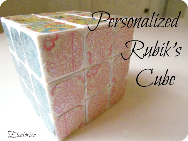 Mod Podge, Rubik'sCube, DIY RubiksCube