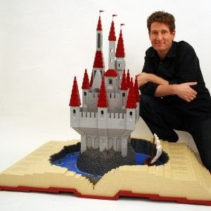 Lego art Pop Up Book by Nathan Sawaya
