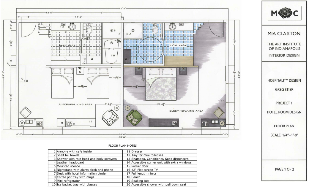 Aim to design hotel room design for Software for planning room layouts