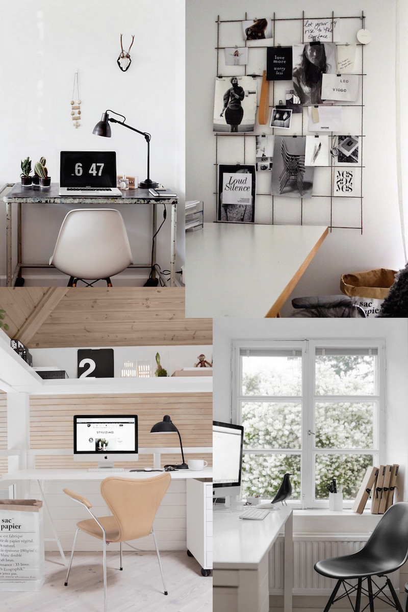 Apartment office desk: innovative studio design with single iron ...
