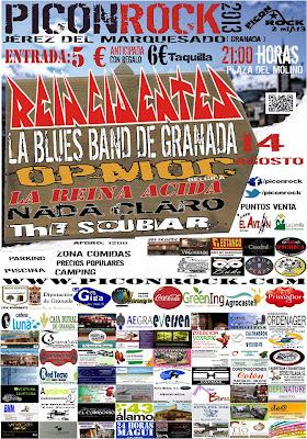 cartel festival rock picon rock jerez del marquesado granada camping la lomilla