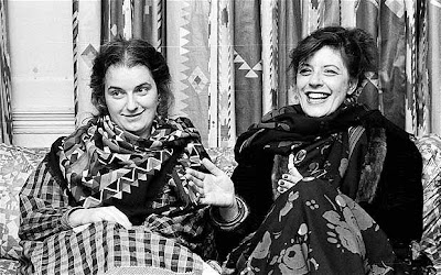 black and white photo of textile designers