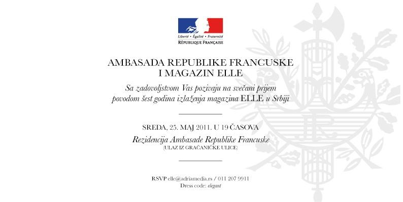 Rođendan ELLE-a u Francuskoj Ambasadi