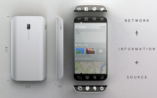 Palette smartphone concept by Kunihiko Nakata Seen On www.coolpicturegallery.us
