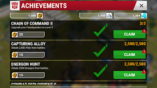 transformers earth wars achievements