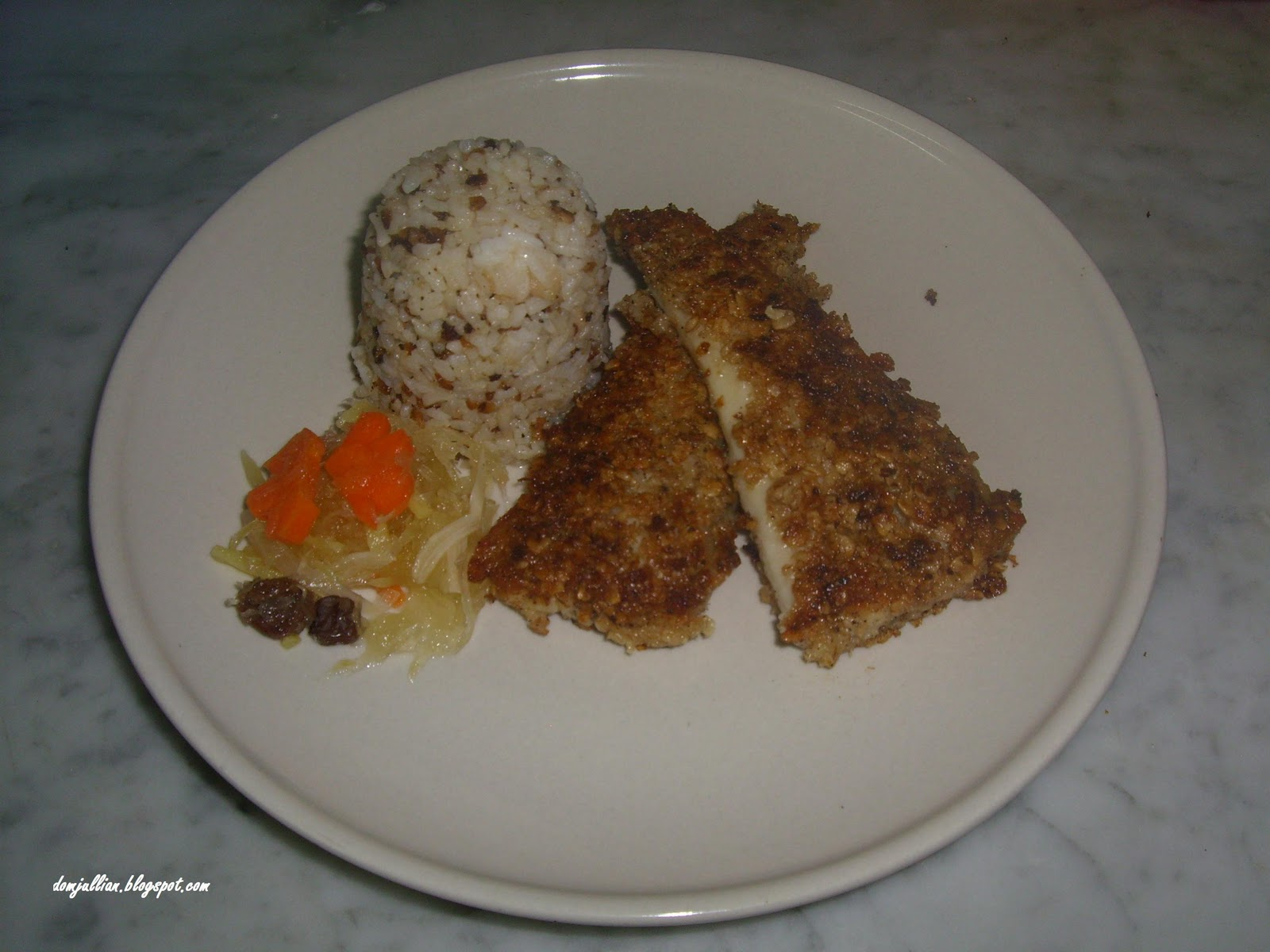 Sentimiyento de patatas recipe oat crusted pan fried for Pan fried fish fillet recipes