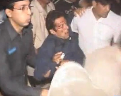 Imran Khan Injured 7-may-2013