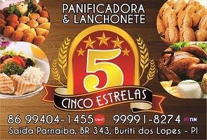 PANIFICADORA  E  LANCHONETE  5 ESTRELAS