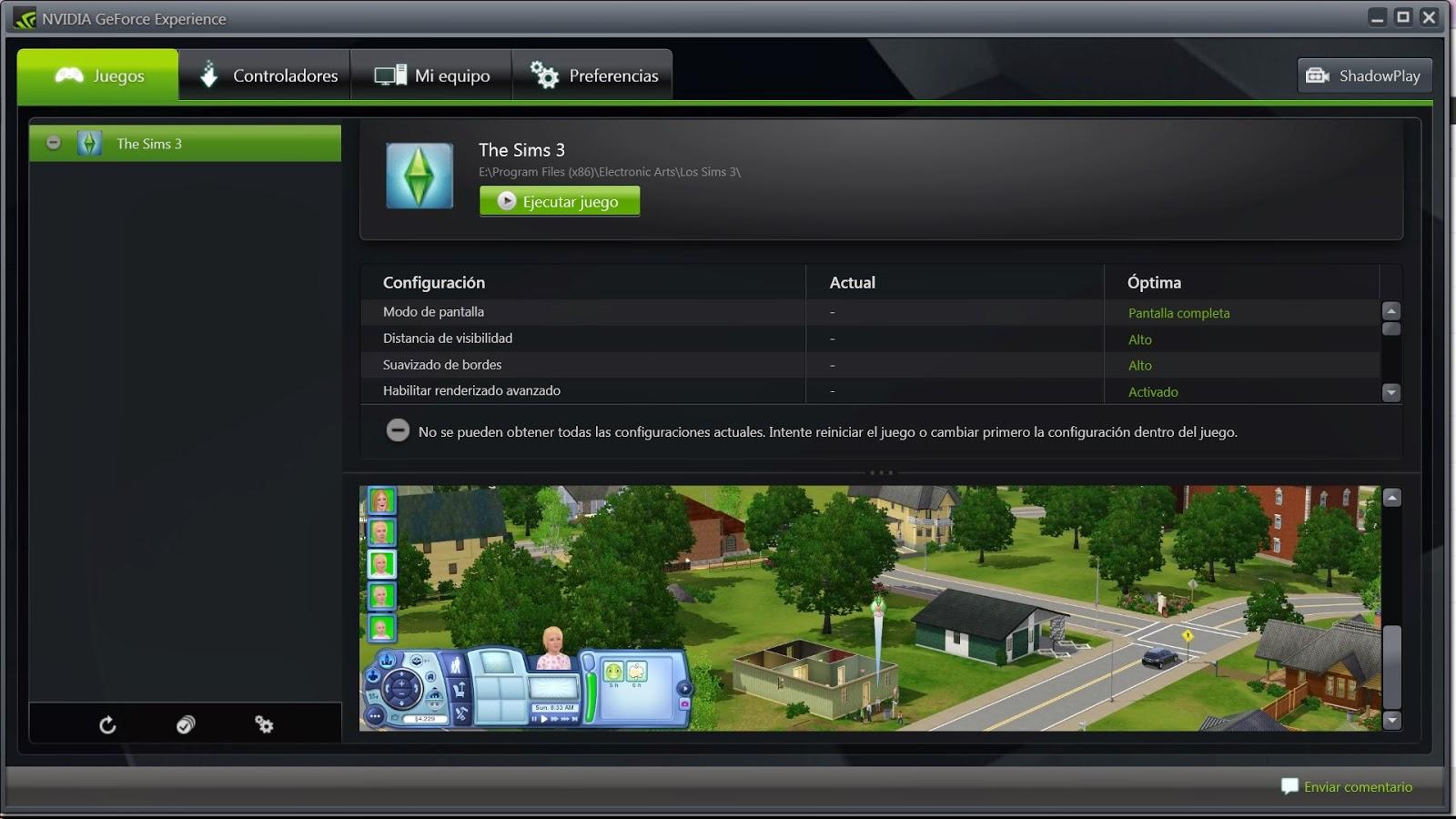 la mejor gráfica para Los Sims 3