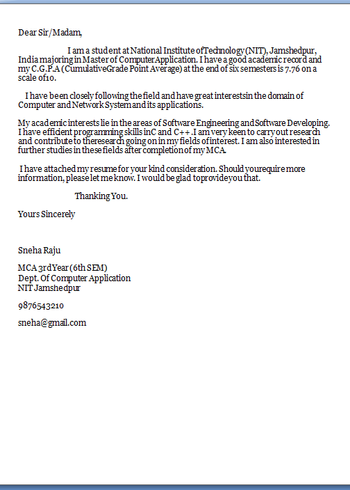 Job Application Letter With Examples