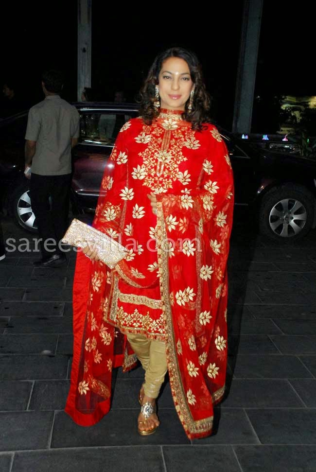 Juhi Chawla At Udhay Shirin Wedding Reception