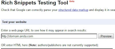 Tool richsnippets google webmaster tools
